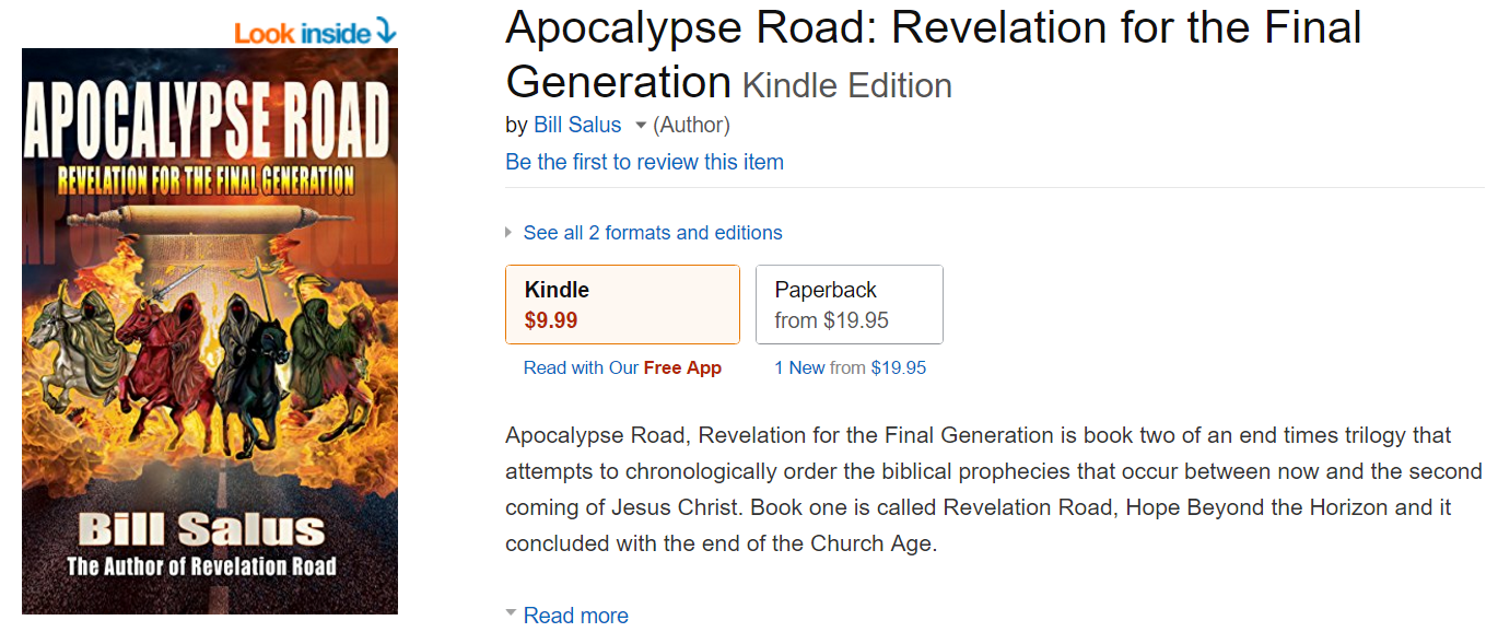 Apocalypse Road now available in Kindle and paperback versions