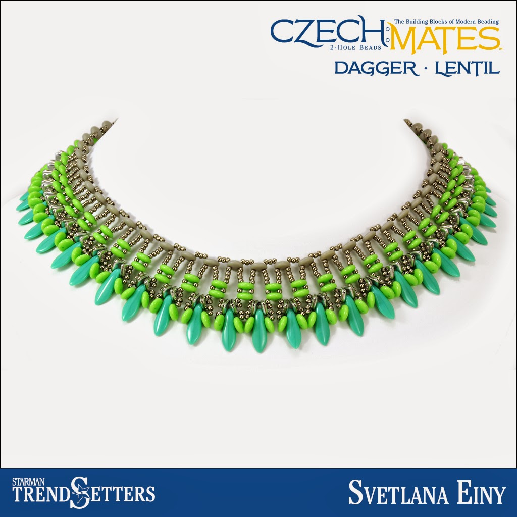CzechMates Dagger/Lentil necklace by Starman TrendSetter Svetlana Einy