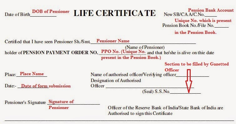 How to fill pensioners life certificate form for retired senior how to fill pensioner life certificate altavistaventures