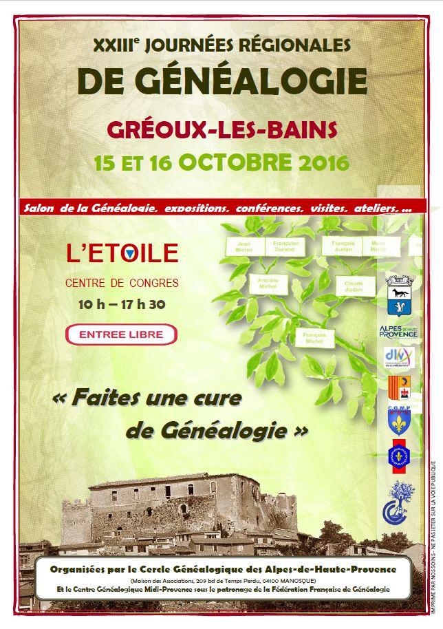 Gréoux-les-Bains 15-16 octobre 2016