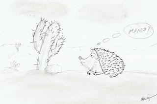caricatura arici cactus