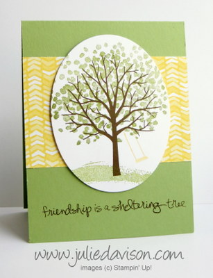 Stampin' Up! Sheltering Tree Card #cleanandsimple #occasions #stampinup www.juliedavison.com