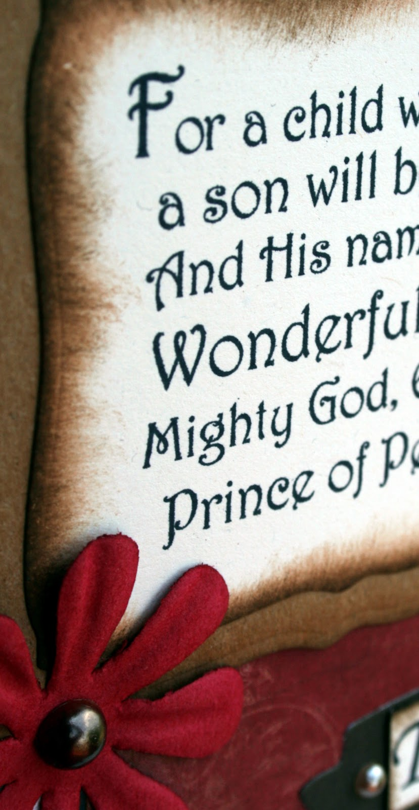 inspired stamps...the blog: Bible Verse Christmas Card from Inspired ...
