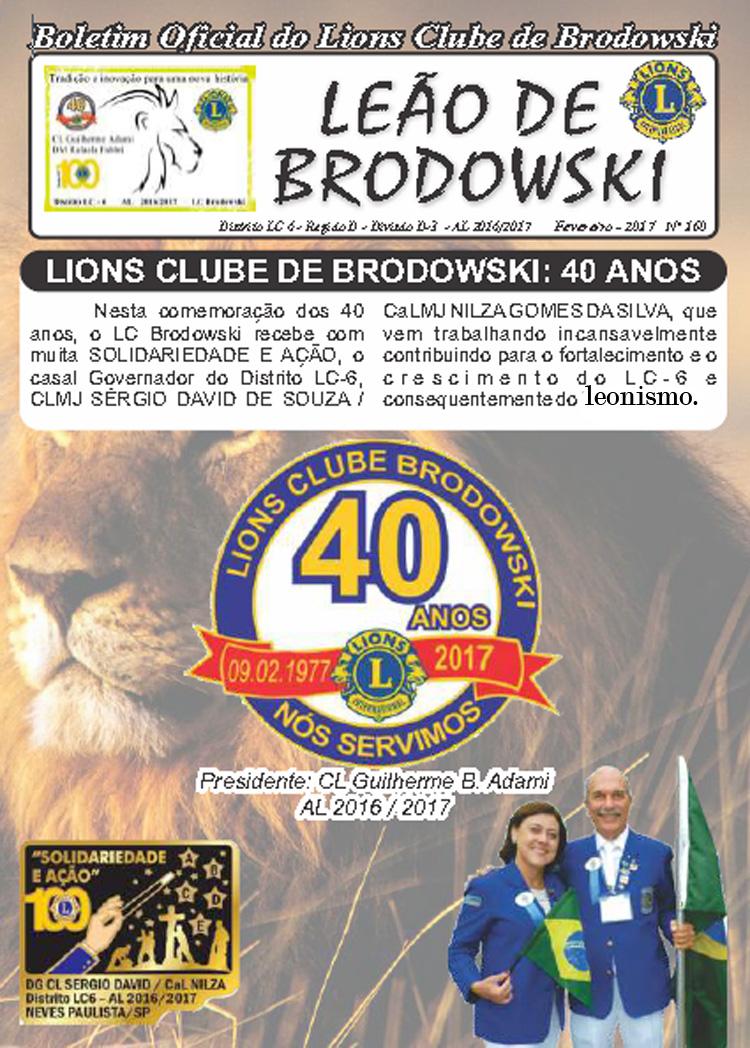 BOLETIM 40 ANOS - LIONS
