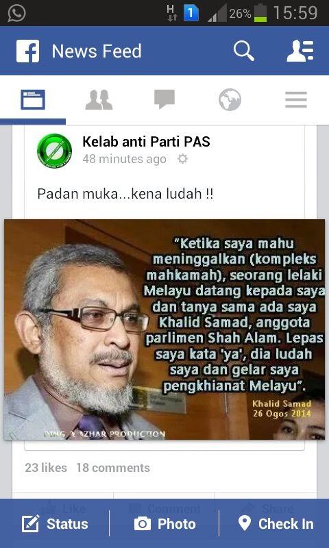 Ptuii Khalid Samad Mandi Ludah Di Jalan Duta
