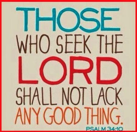 PERO LOS QUE BUSCAN A JEHOVÁ NO TENDRÁN FALTA DE NINGÚN BIEN. SALMO 34.10