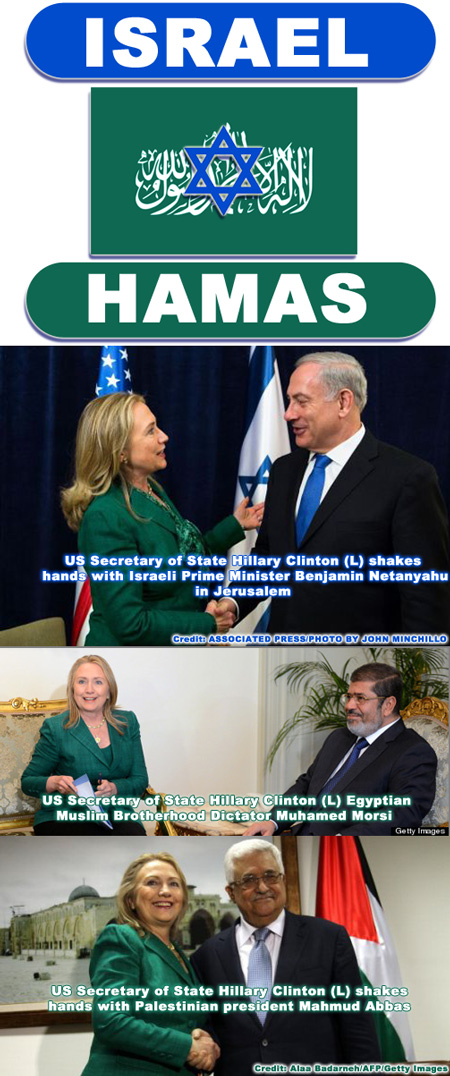 Hillary Clinton, Obama Administration wear Hamas Green during negotiations with Israel
