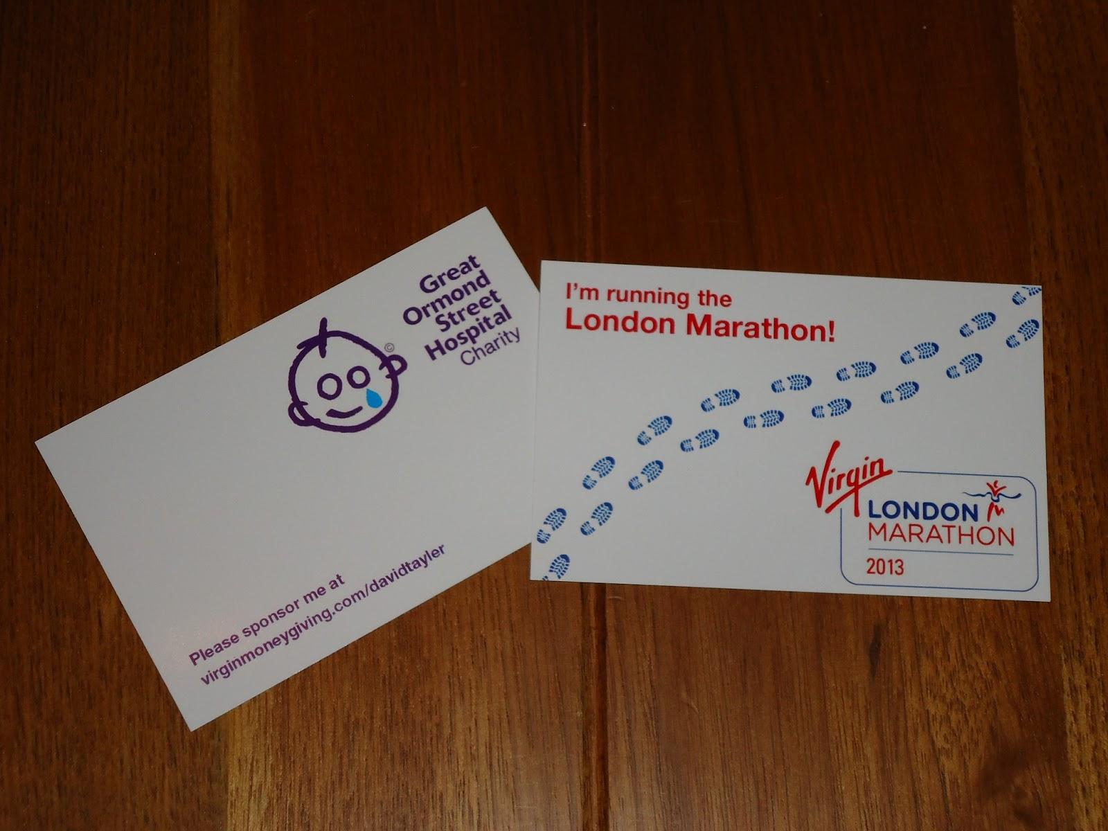 London Marathon Business Cards | afrodisiacDESIGN