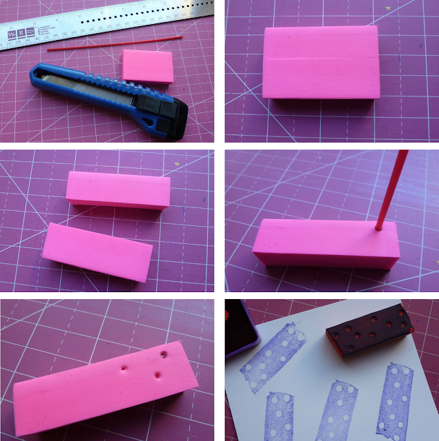 DIY rubber stamp washi tape