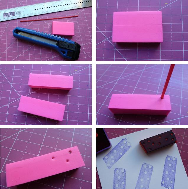 DIY rubber stamp washi tape