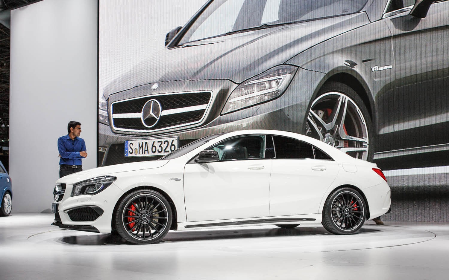 Mercedes-Benz CLA45 AMG New Interior and Exterior background HD