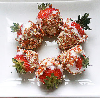 Kitchenette Pretzel and White Chocolate Dipped Strawberries
