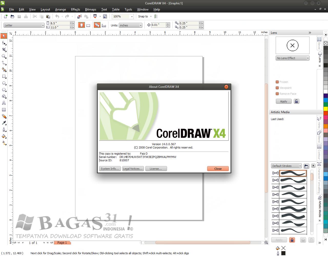 Coreldraw version 12 - Cara Aktivasi Coreldraw X4