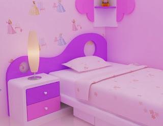 jasa desain gambar murah desain kamar tidur pink anak