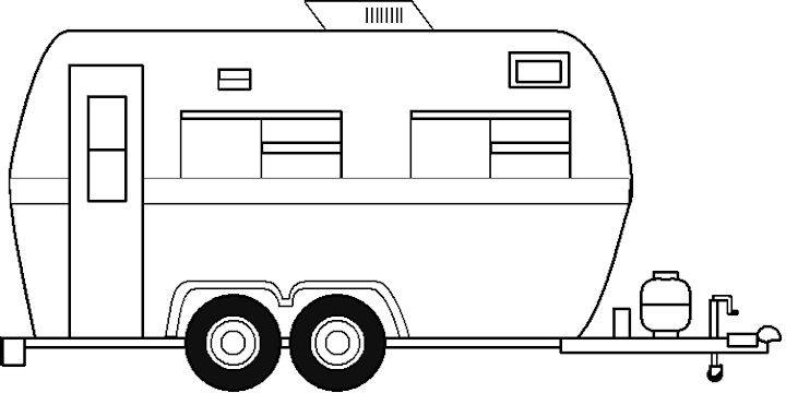 Rv Motor Home To Color Colouring Pages
