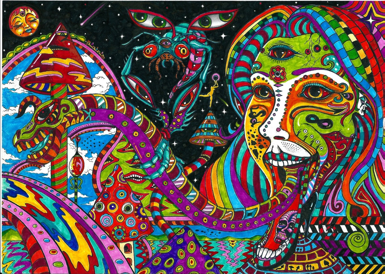 art aliens psychedelic - photo #13