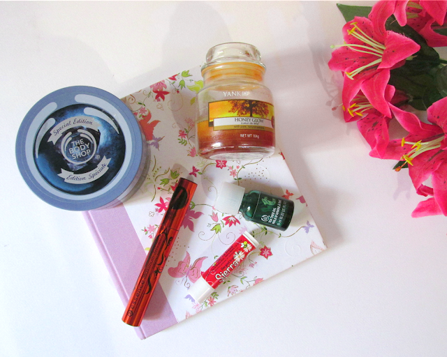 September favourites, Essence, yankee candles, the body shop, sierra bees