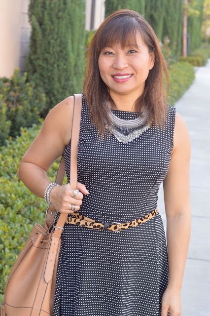 Old Navy Bucket Purse, Target Fit and Flare Dress