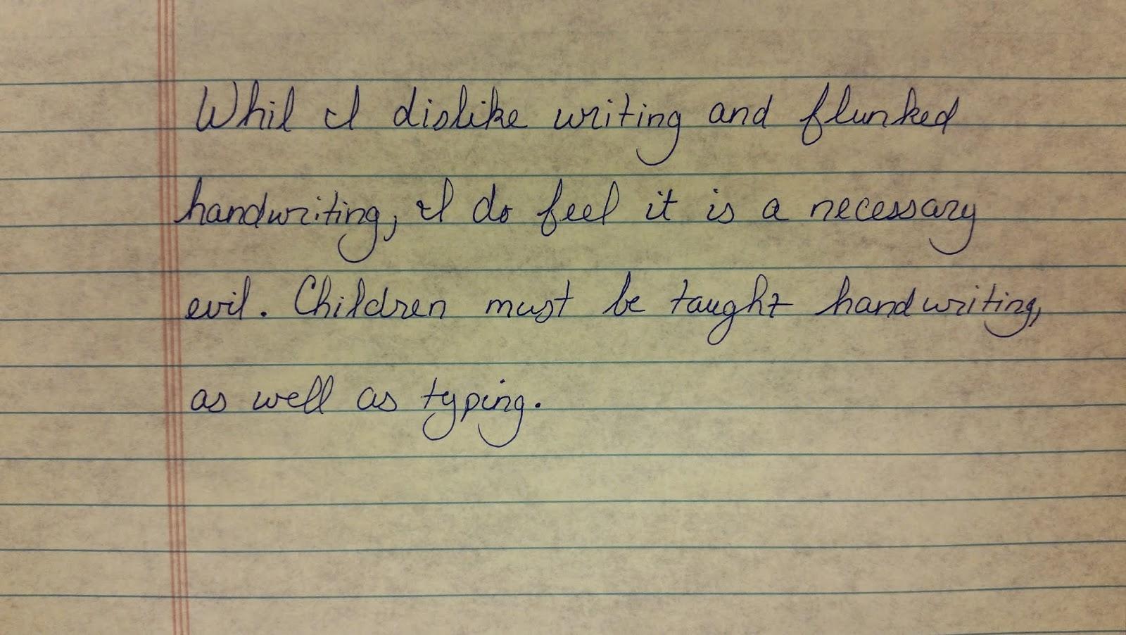 Typing vs writing