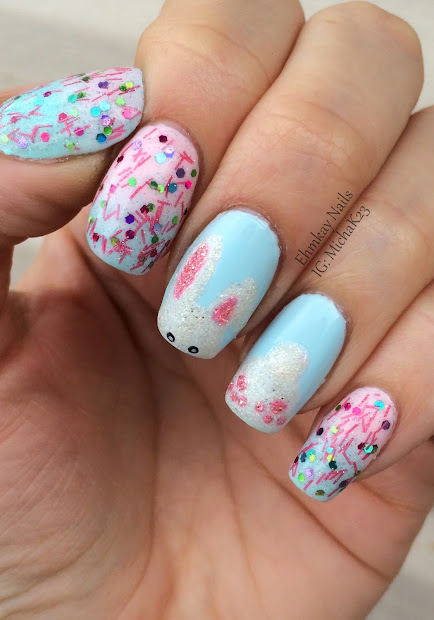 ehmkay nails shy bunny easter