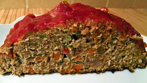Closeup of Slice of Meatloaf