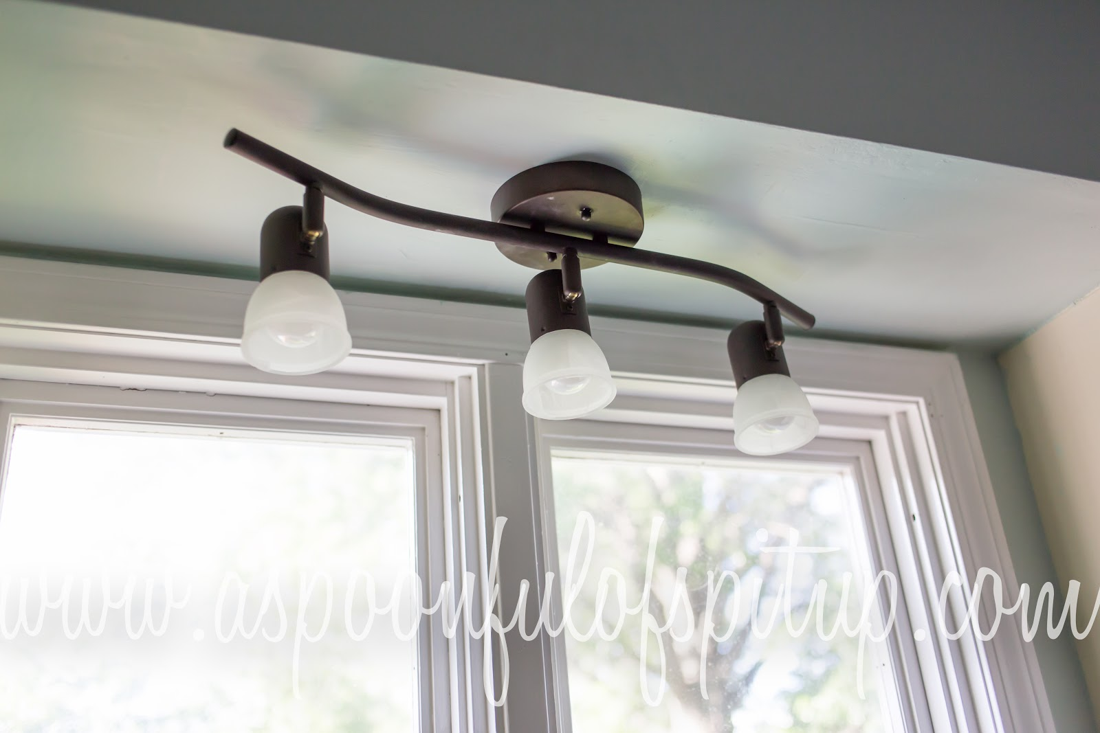 Light Above Kitchen Sink A Spoonful Of Spit Up Kitchen Project 2 Diy Mason Jar Light Fixture
