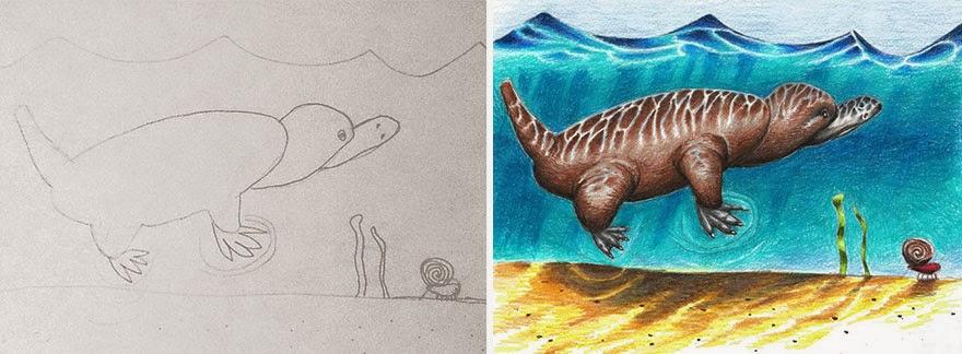 coloring in kids drawings