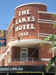 Lakes hotel facade detail