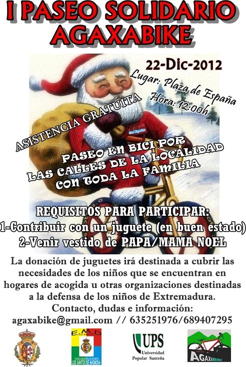 I Paseo Solidario AGAXABIKE Los Santos de Maimona Cartel+definitivo