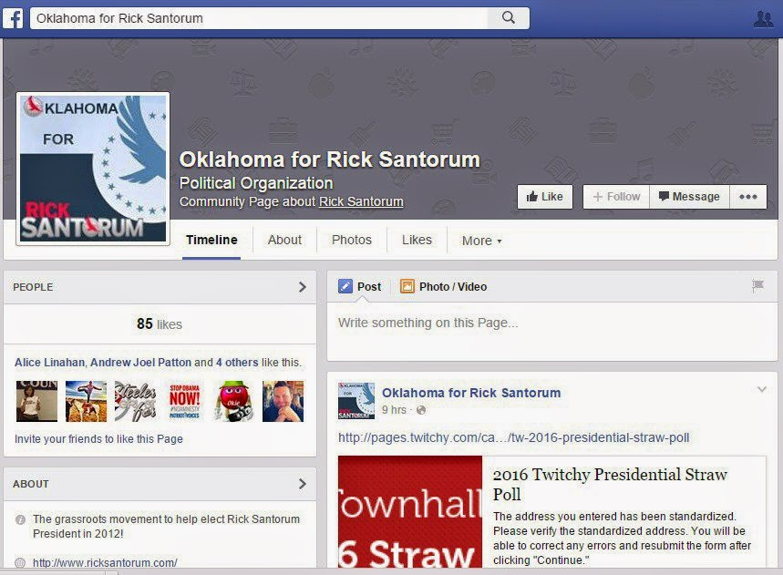 https://www.facebook.com/OKforSantorum