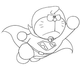 Sketsa Gambar Mewarnai Doraemon 201616