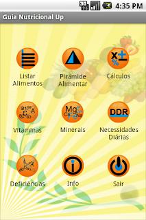 Guia Nutricional Up Vitaminas e Minerais Alimentos App Anroid