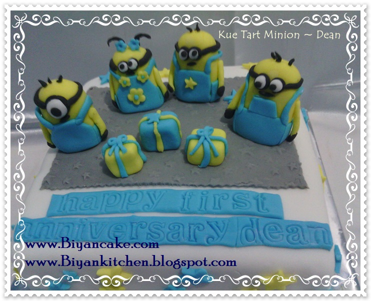 Jual Kue tart Kartun di bekasi : Kue tart Minion ~ Dean