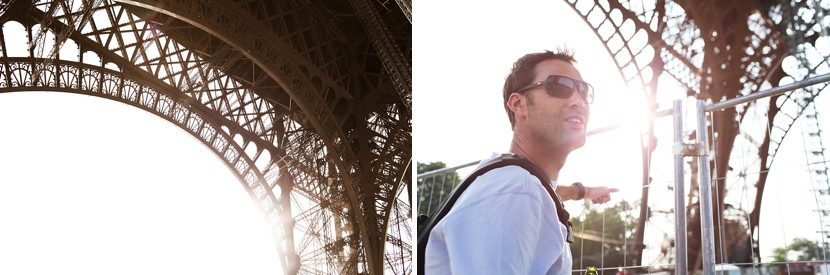 eiffel tower sunshine photo