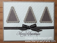 Holiday Card Christmas Trees made with Stampin'UP!'s Pennant Punch