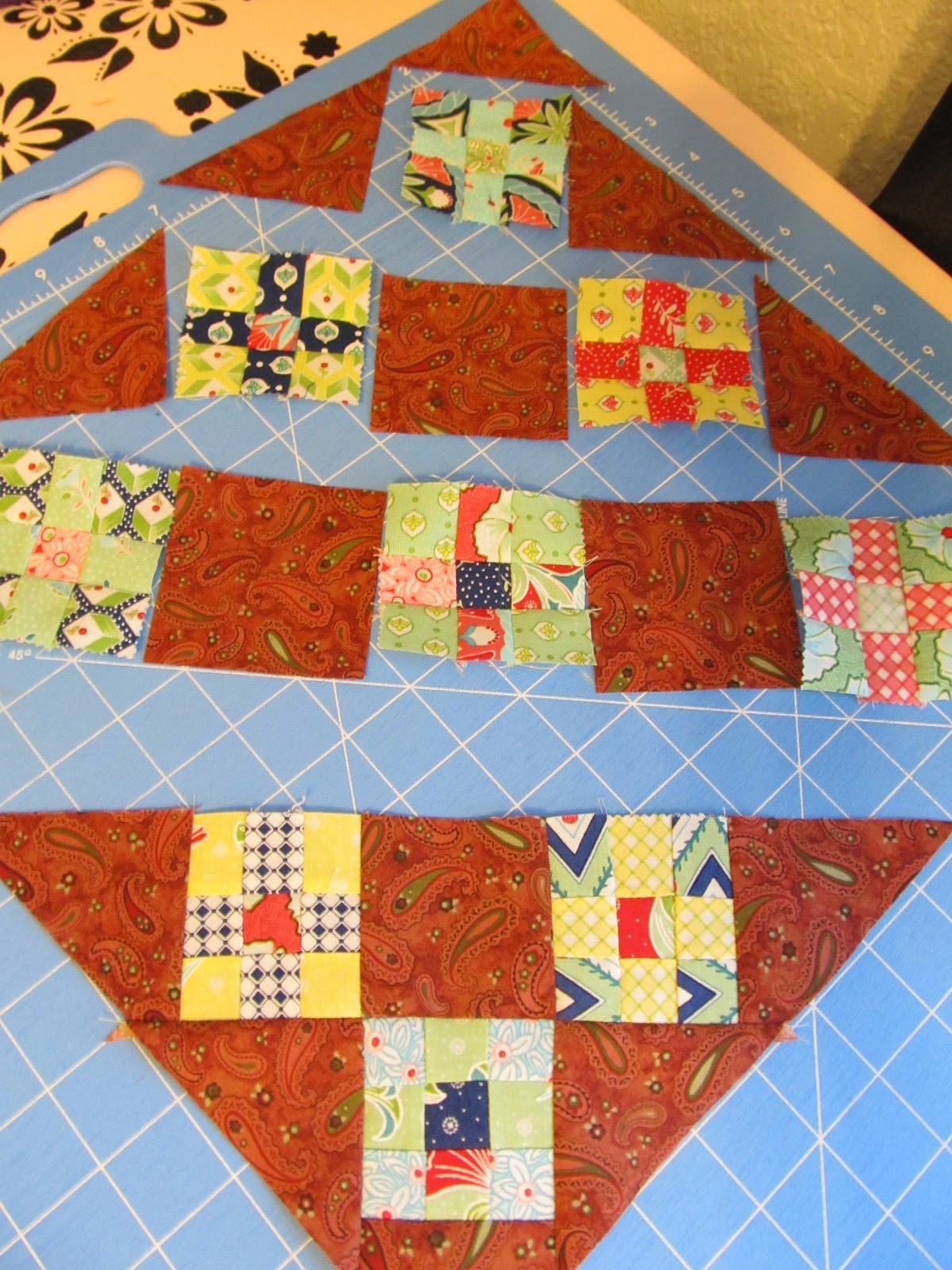 Nine Patch Quilted Table Topper Tutorial by The Quilt Ladies