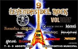 Volbeat, Michael Schenker y Hammerfall al festival Leyendas del Rock 2014
