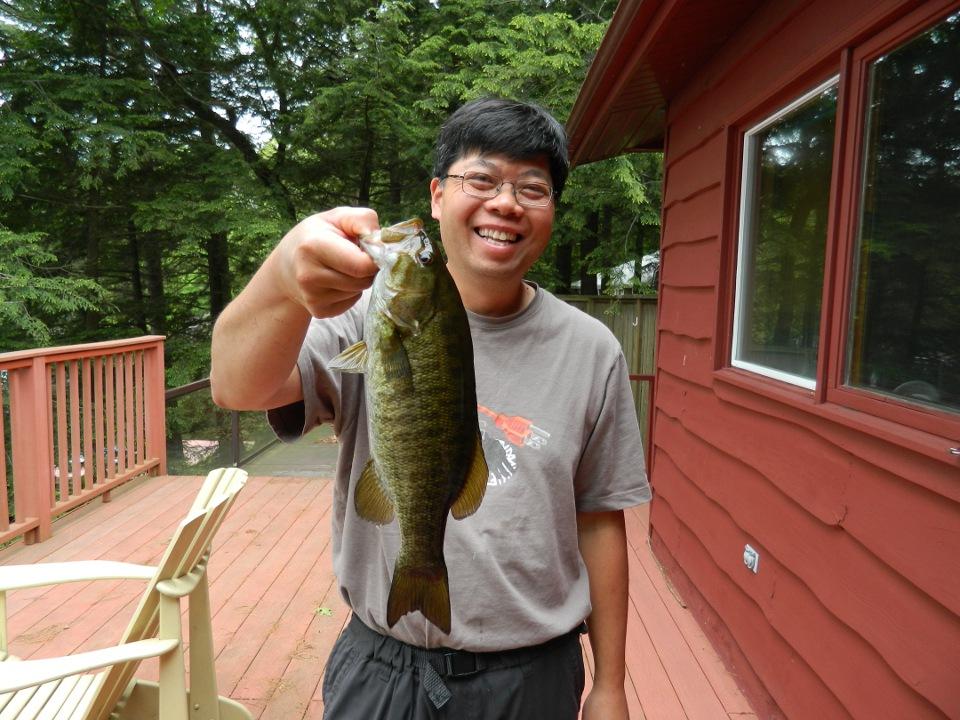 Lake Muskoka smallmouth bass by garden muses: a Toronto gardening blog