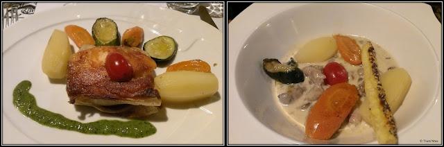 restaurant Petit Patrimoine Tours croustillant de saumon ris d'agneau petits légumes