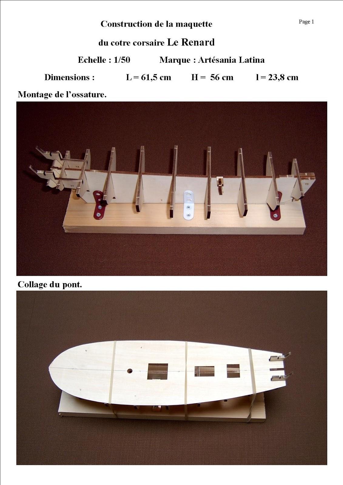 Maquettes de bateaux en bois: Maquette du cotre corsaire