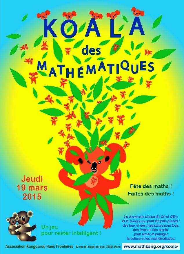 AlgoRythmes: #SemaineDesMaths : Le concours Koala des maths, petit ...