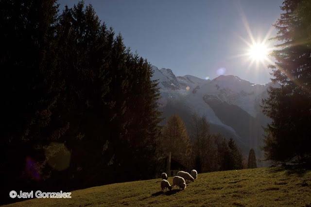 viaje en caravana, Alpes franceses, Montblanc, Francia,