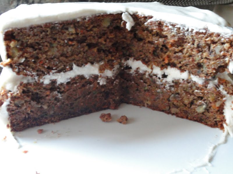 oh my zucchini carrot cake what more can i say this cake turned out so ...
