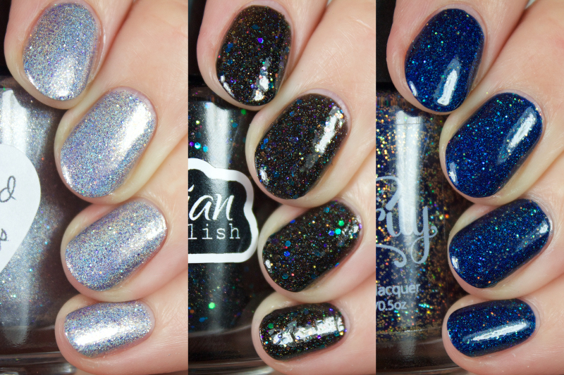 I Also Couldnt Resist Doing A Galaxy Nail Look With Each Of The Polish Lets Take