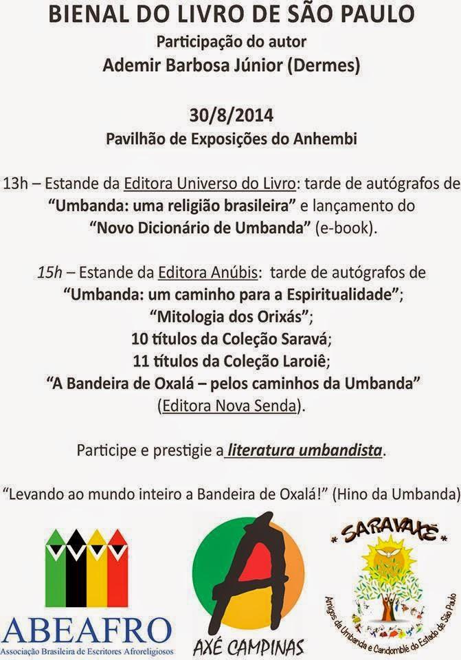 Tambores de Orunmilá Bienal do Livro de São Paulo reserva espaço
