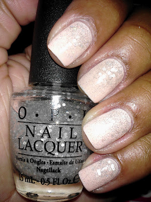 Savina Heavenly, OPI Pirouette My Whistle, glitter gradient, nail art, nail design, mani