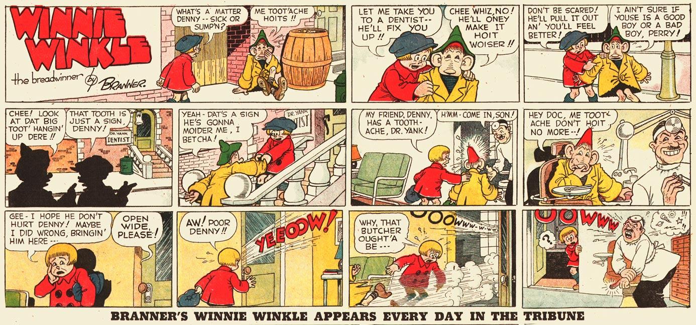 Denny dimwit comic strip