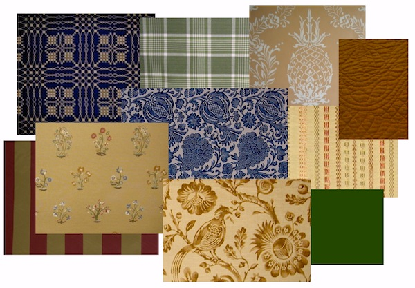 an array of fabrics and wallpaper suitable for american colonial period interiors you can find more of these at restoration fabrics trims and old house