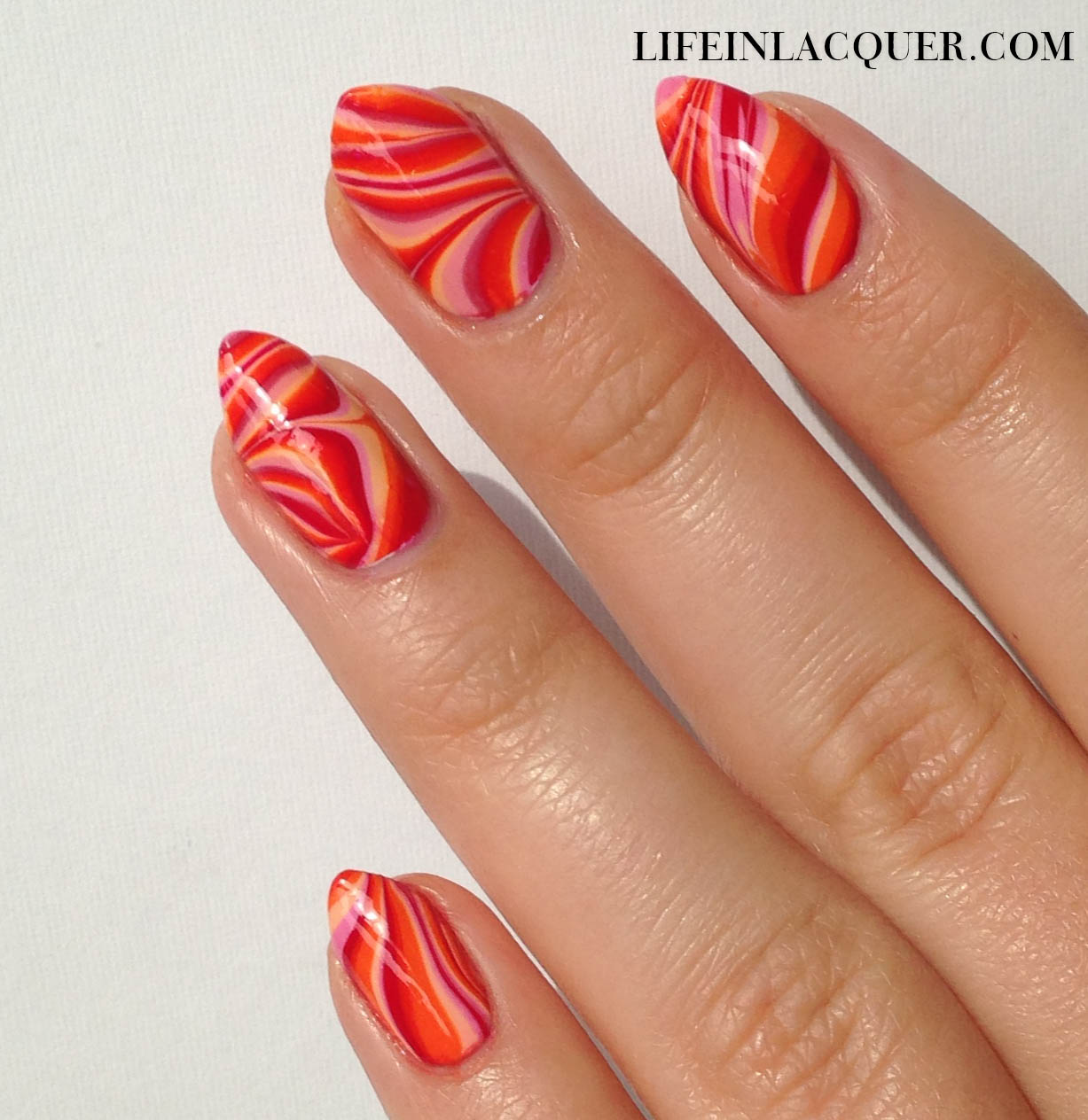 Marble Nail Art: Life In Lacquer: Water Marble Nail Art Decals