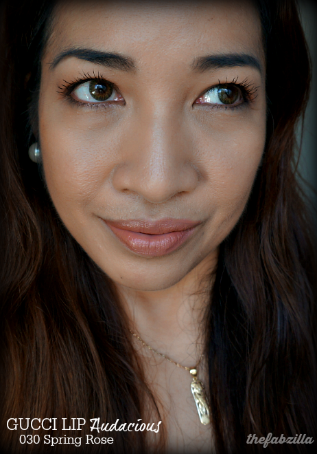 Gucci Lip Luxurious, 440 Tiger Lily, Gucci Lip Audacious 030 Spring Rose, Review, Swatch, FOTD